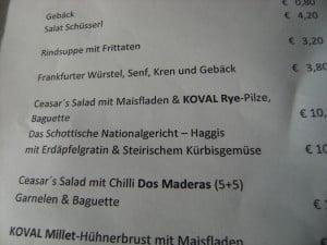 Haggis on the menu